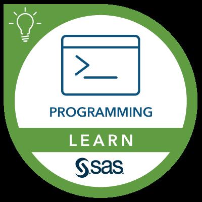 SAS Learn Badge for Programming