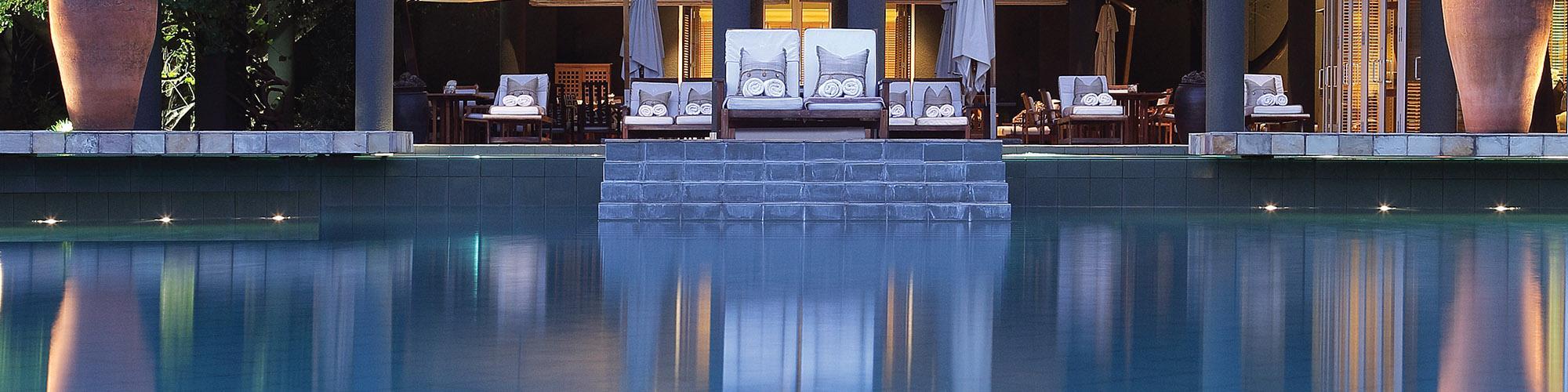 Saxon Hotel Johannesburg pool view