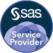 SAS Service Provider badge art, round format, midnight background