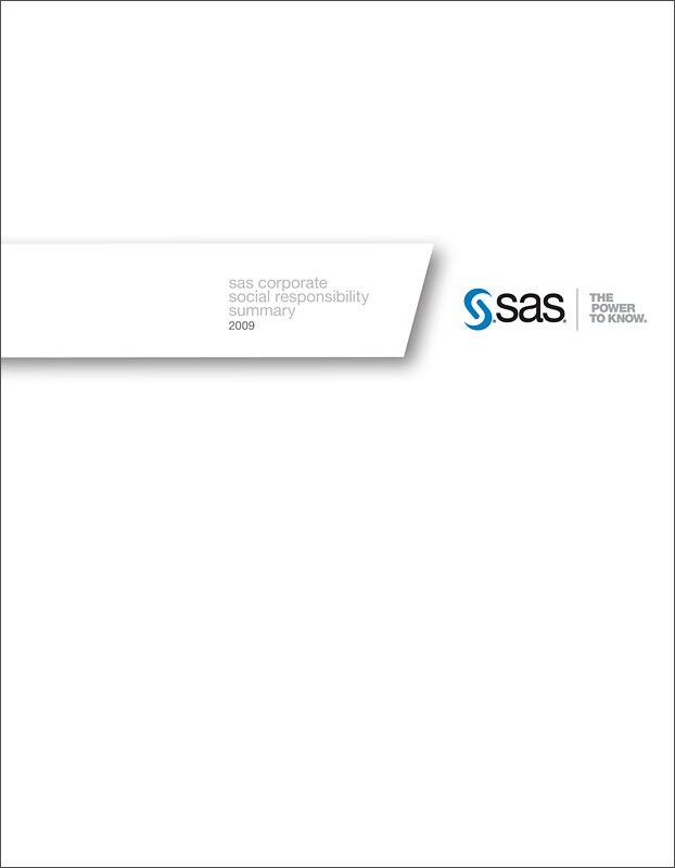 CSR Report 2009 Cover