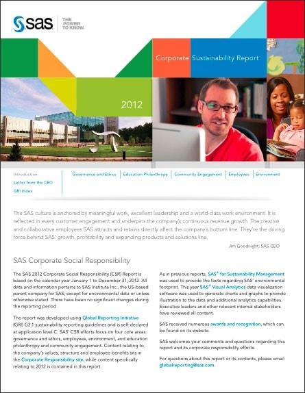CSR Report 2012 Cover