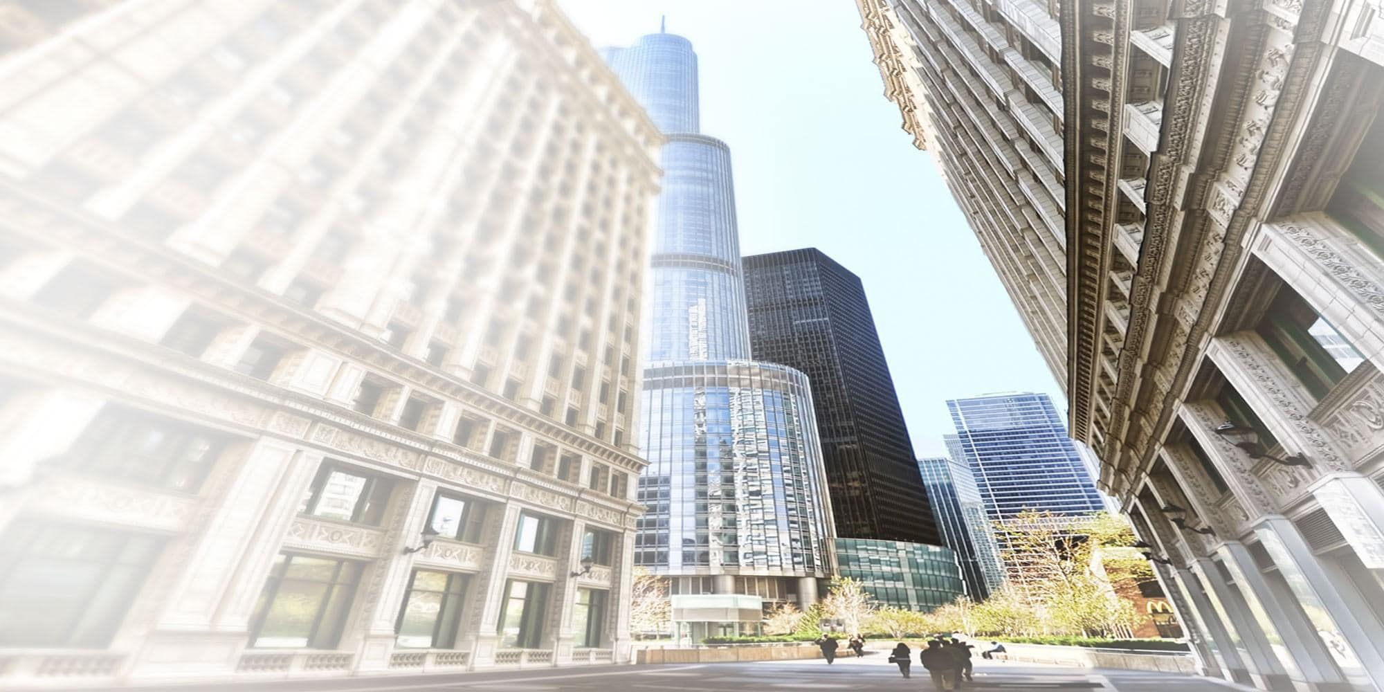 panoramic view of financial district