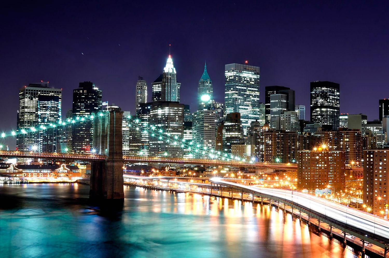 New York City building at night