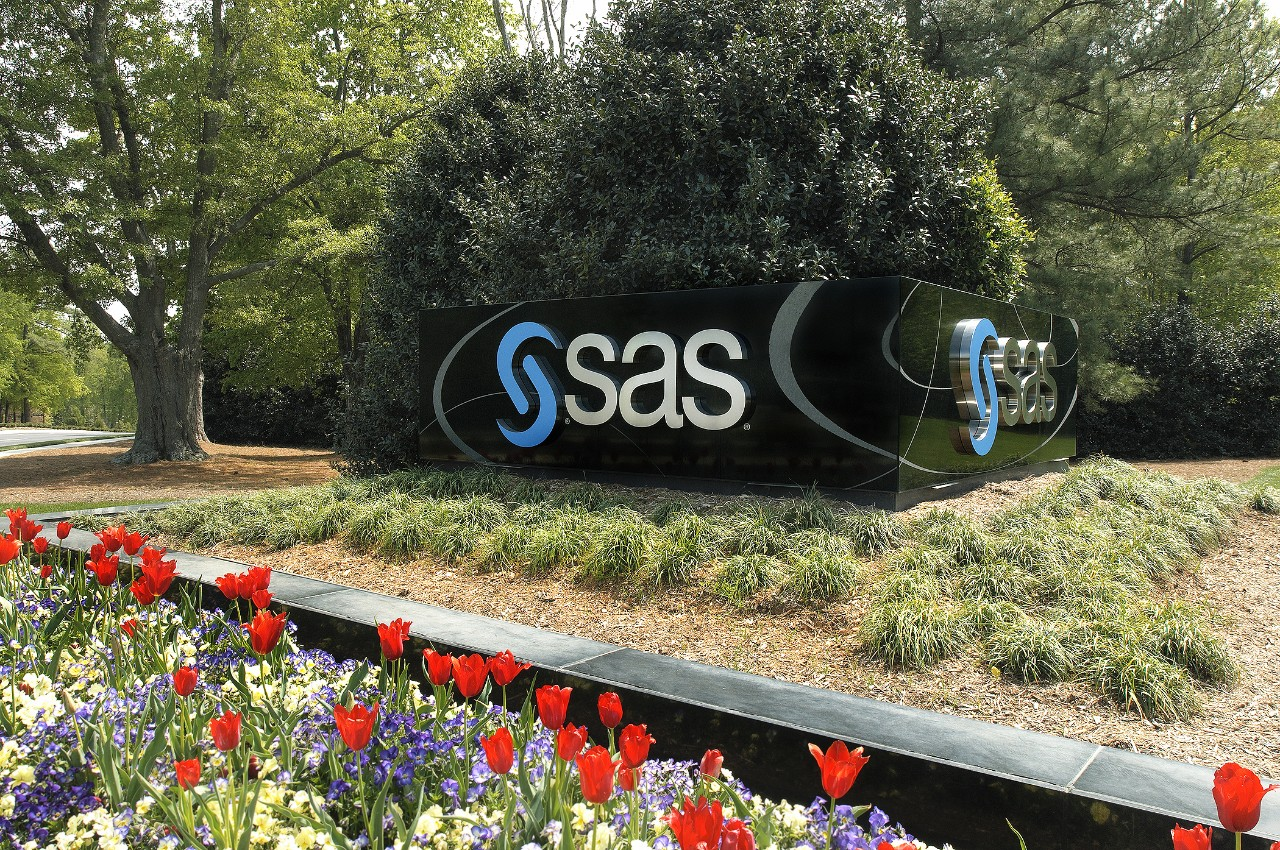 SAS entrance and signage