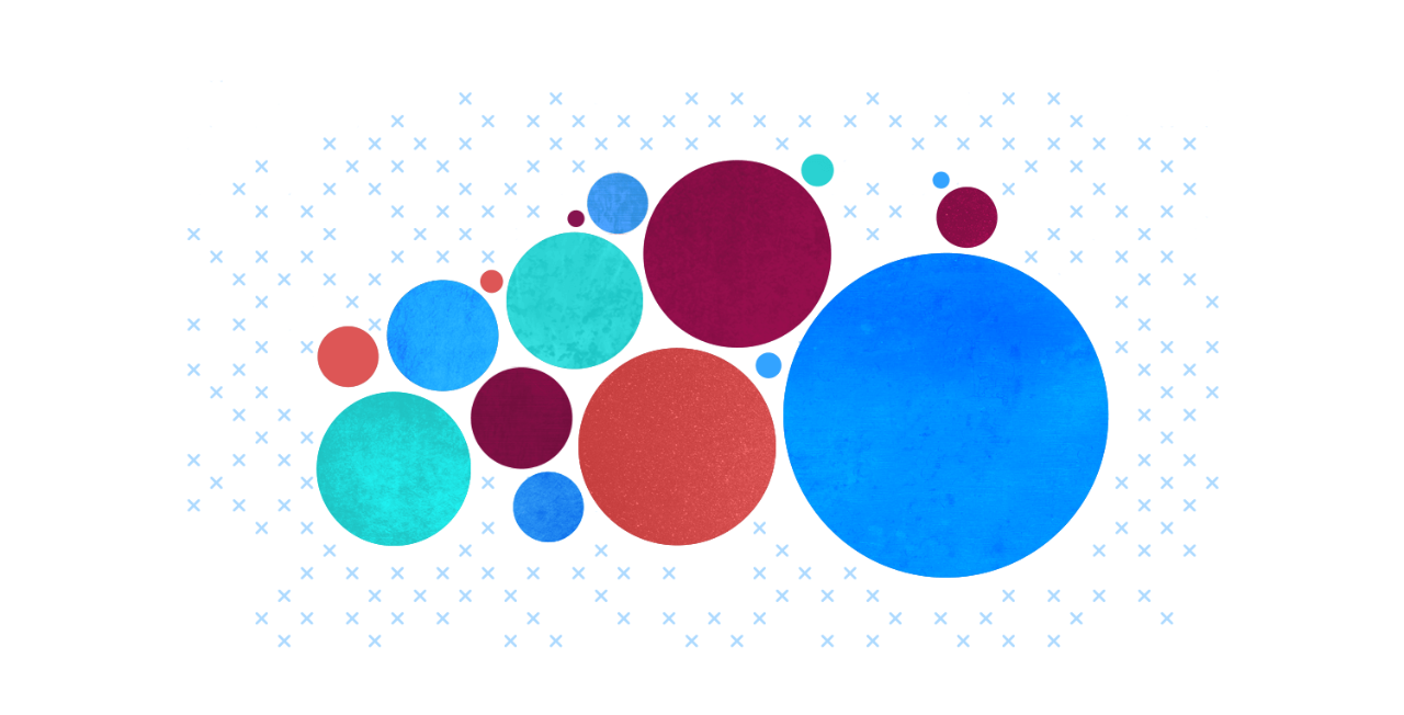 Abstract bubble chart