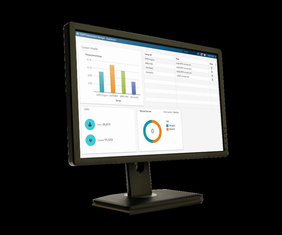 SAS Viya on desktop monitor - left