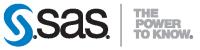 SAS - The Power to Know Logo - Black / Gray / Transparent