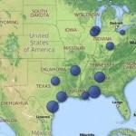 Ejemplo de diagrama geográfico de visualización de datos