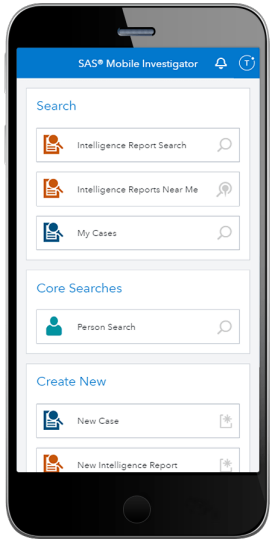 SAS Mobile Investigator - homepage