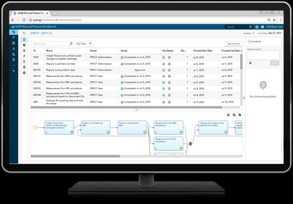 SAS® Regulatory Content for IFRS 17 - process flow tasks