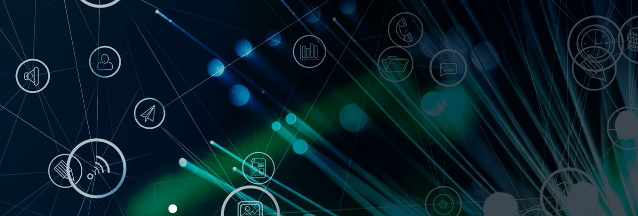 Telco icons connected