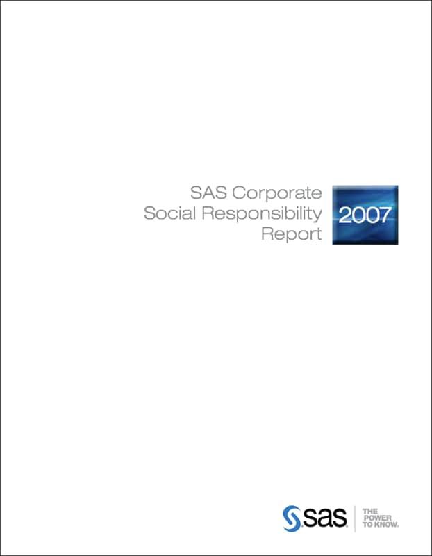 CSR Report 2007 Cover
