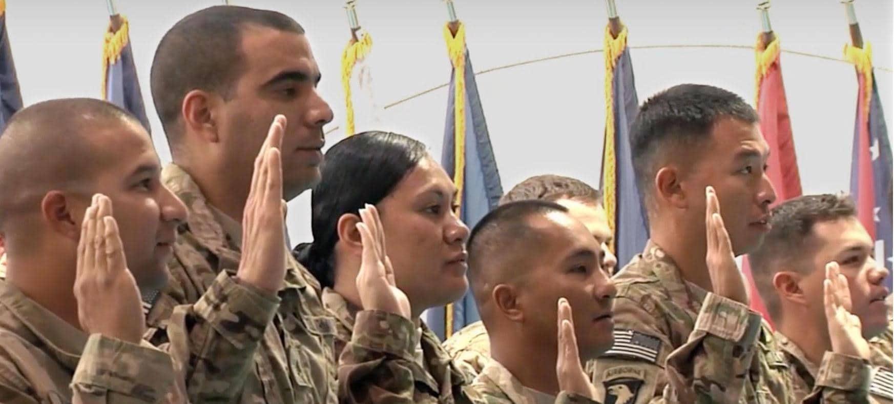 Troops taking an Oath