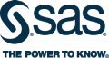 SAS The Power to Know logo in midnight blue