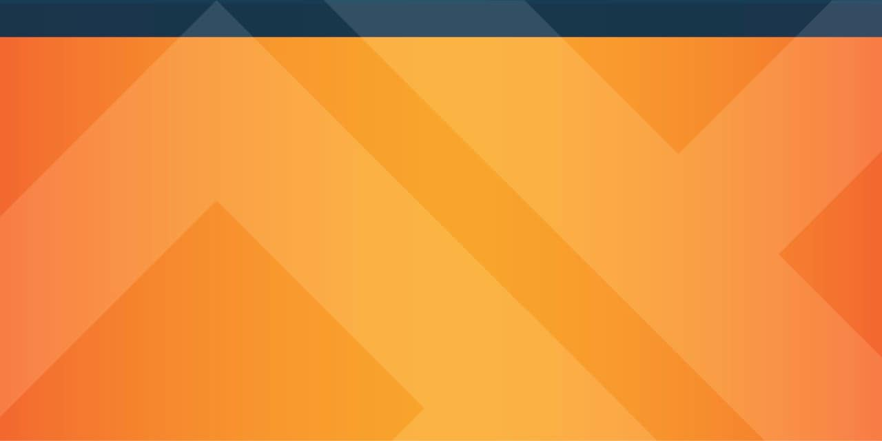Blue Bar and Orange Background