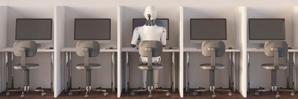 Artificial Intelligence - robot using a computer