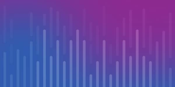Cobalt to plum gradient with bar chart illustration