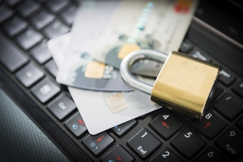 credit card with fingerprints