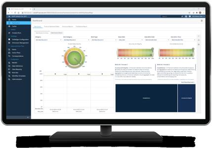 SAS Solution for LDTI shown on desktop monitor