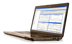 SAS Forecast Server que se muestra en una laptop