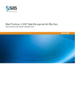 Best Practices in SAS® Data Management for Big Data