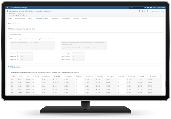 SAS® Credit Assessment Manager - impairment calculations