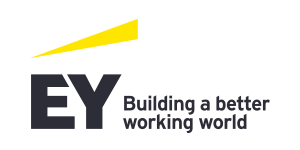 Ernst & Young with tagline in horizontal format