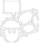 Conversation white icon