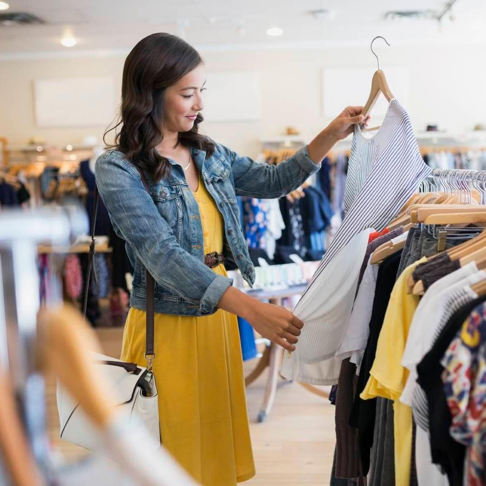 Three woman shopping
