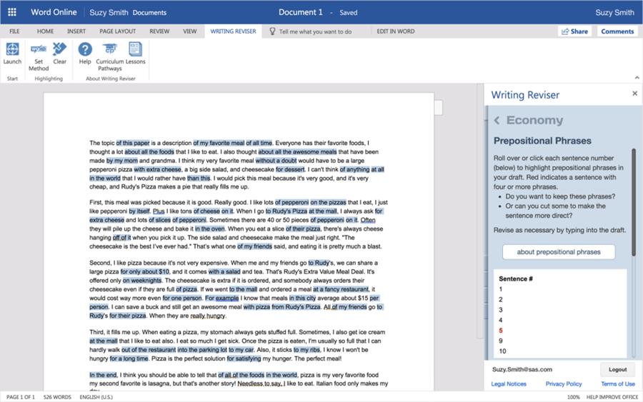 Curriculum Pathways Writing Reviser