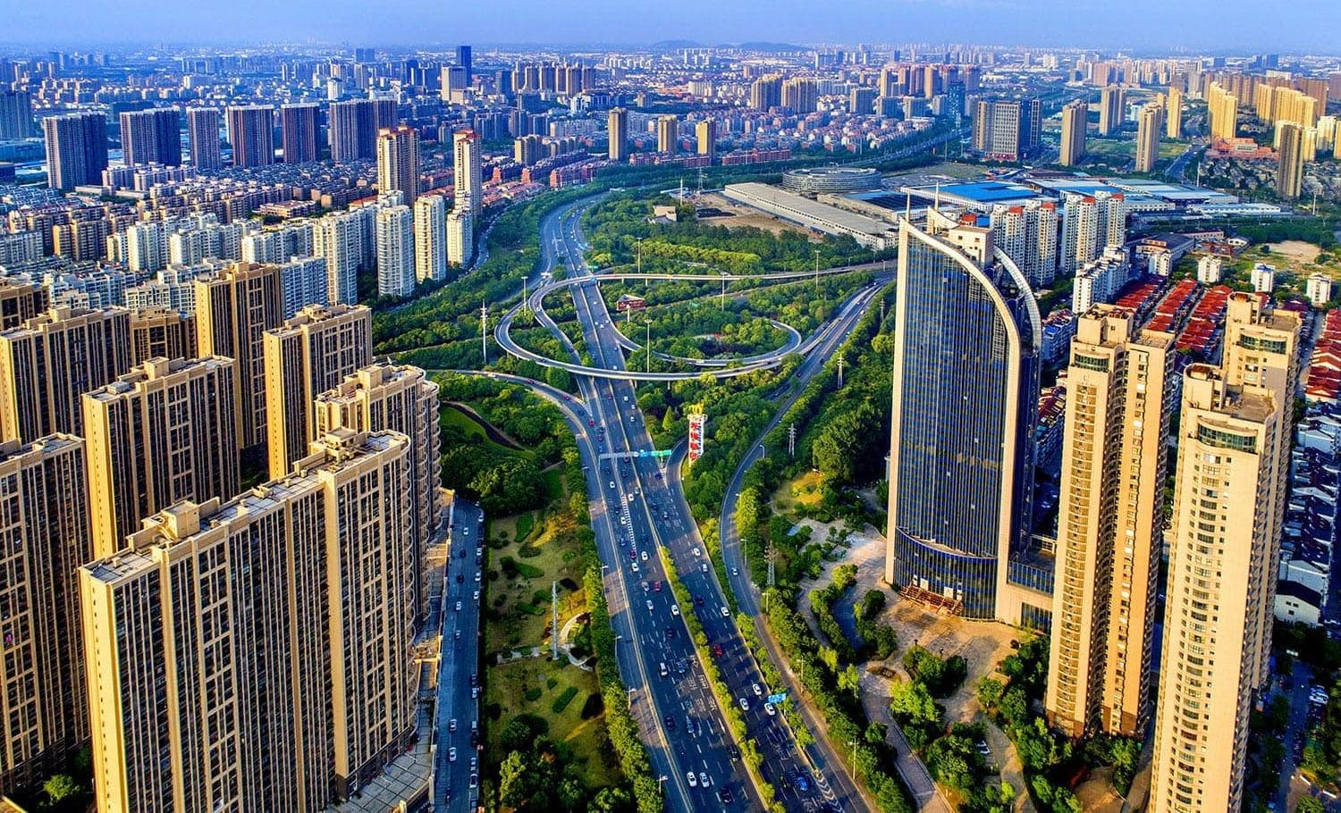 Aerial view of Wuxi high tech hub