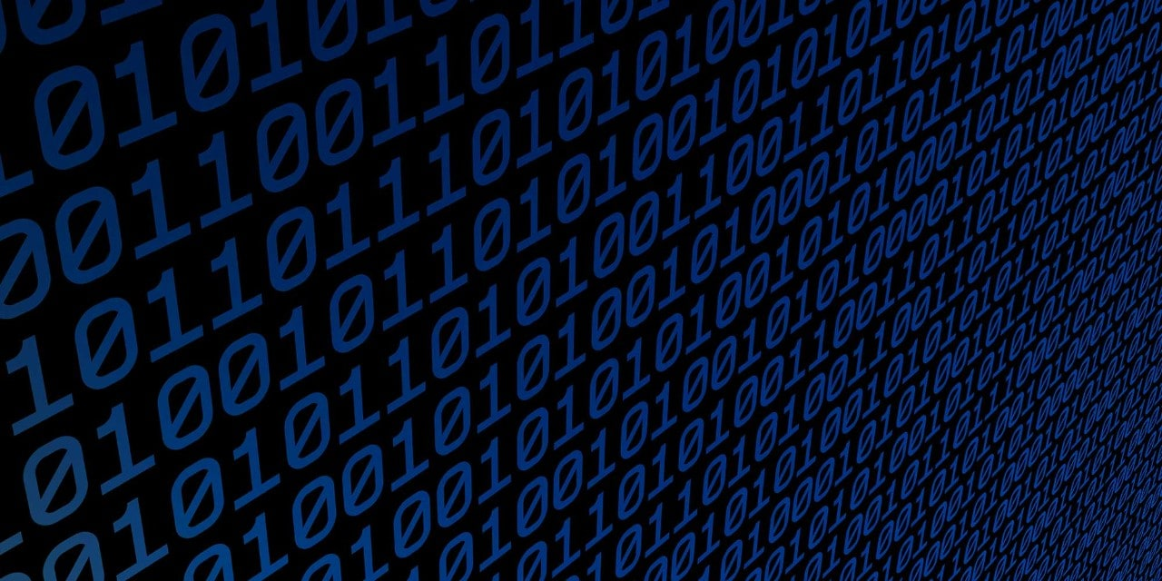 Blue and black binary numbers