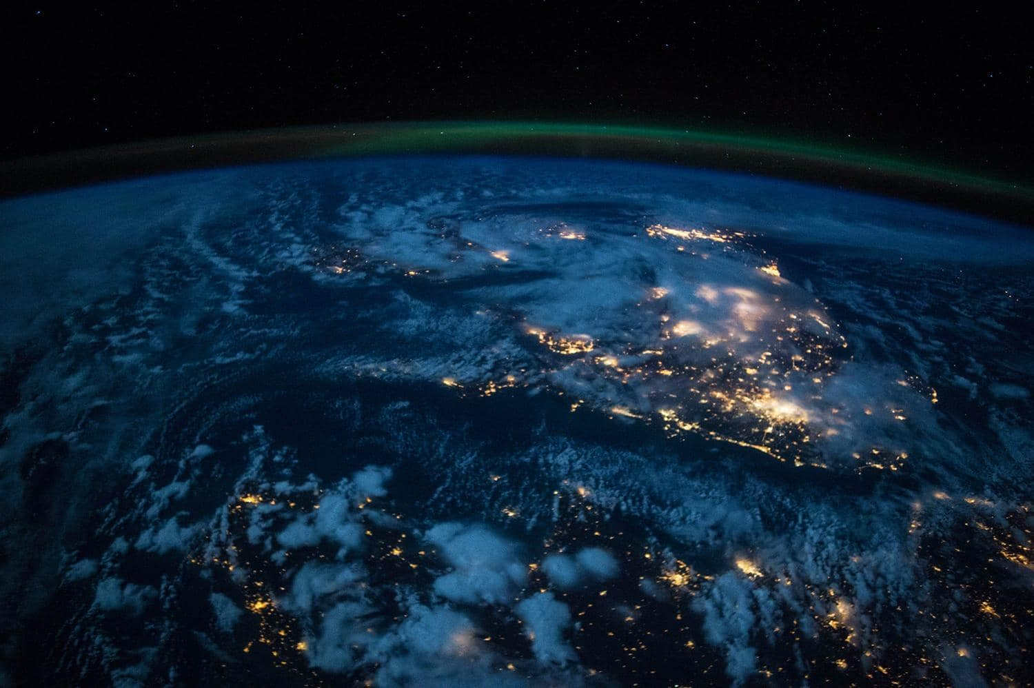 International space station view of Earth