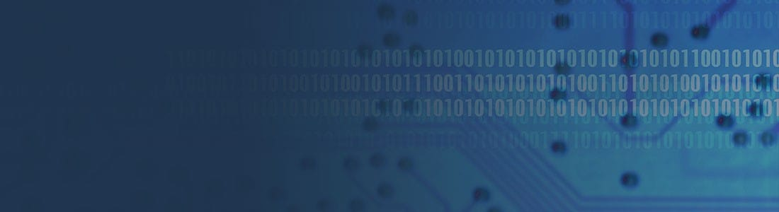 Circuit Board and Binary Code Texture on Midnight Blue Background