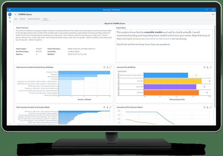 SAS Visual Data Mining and Machine Learning - insights