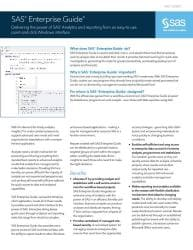 SAS Enterprise Guide fact sheet