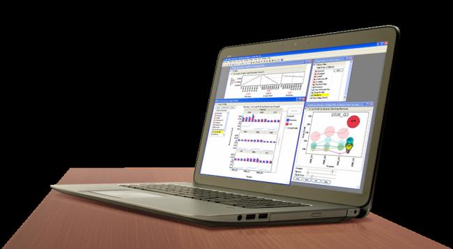 Visual Data Discovery Screenshot on Laptop