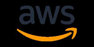 AWS Logo in dark blue and orange