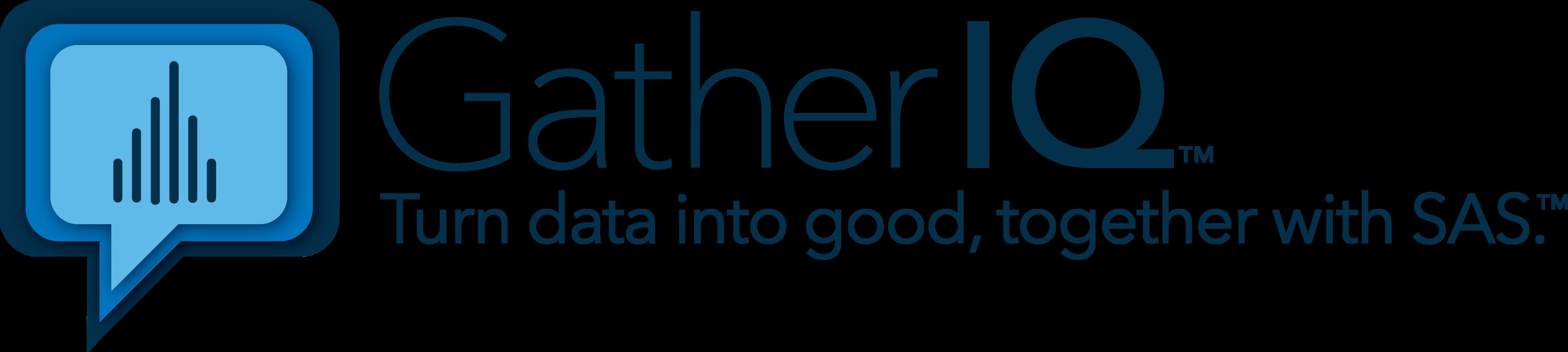 GatherIQ Turn Data Into Good, Together With SAS logo