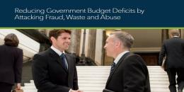 Reduce government budget deficits fraud