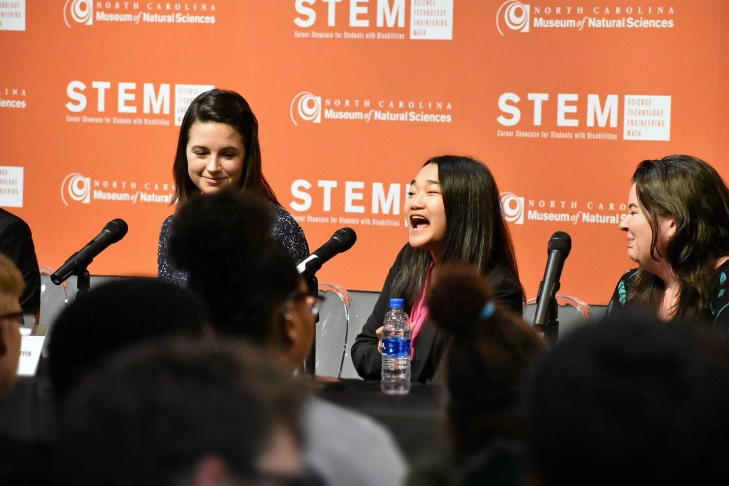 Girl speaking at STEM event