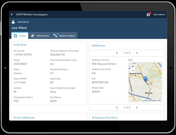 SAS® Mobile Investigator - table layout