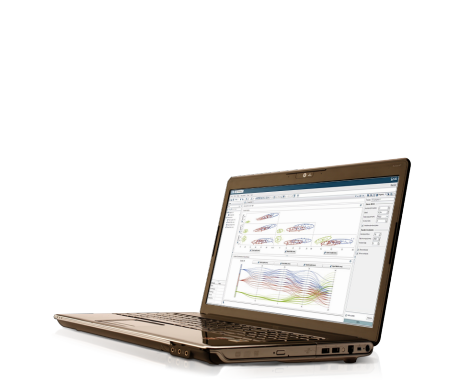 SAS Visual Statistics screenshot on laptop