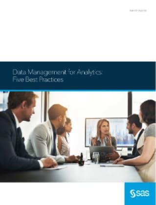 5 Data Management for Analytics Best Practices