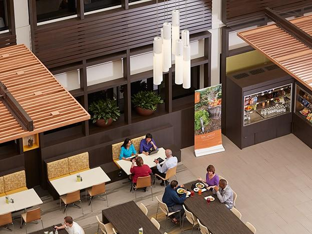 SAS on-campus cafe located at Cary, NC headquarters