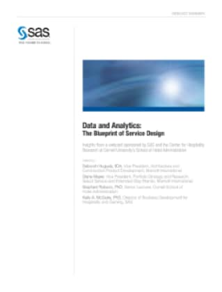 Data and Analytics: The Blueprint of Service Design