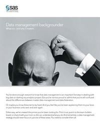 Data management backgrounder