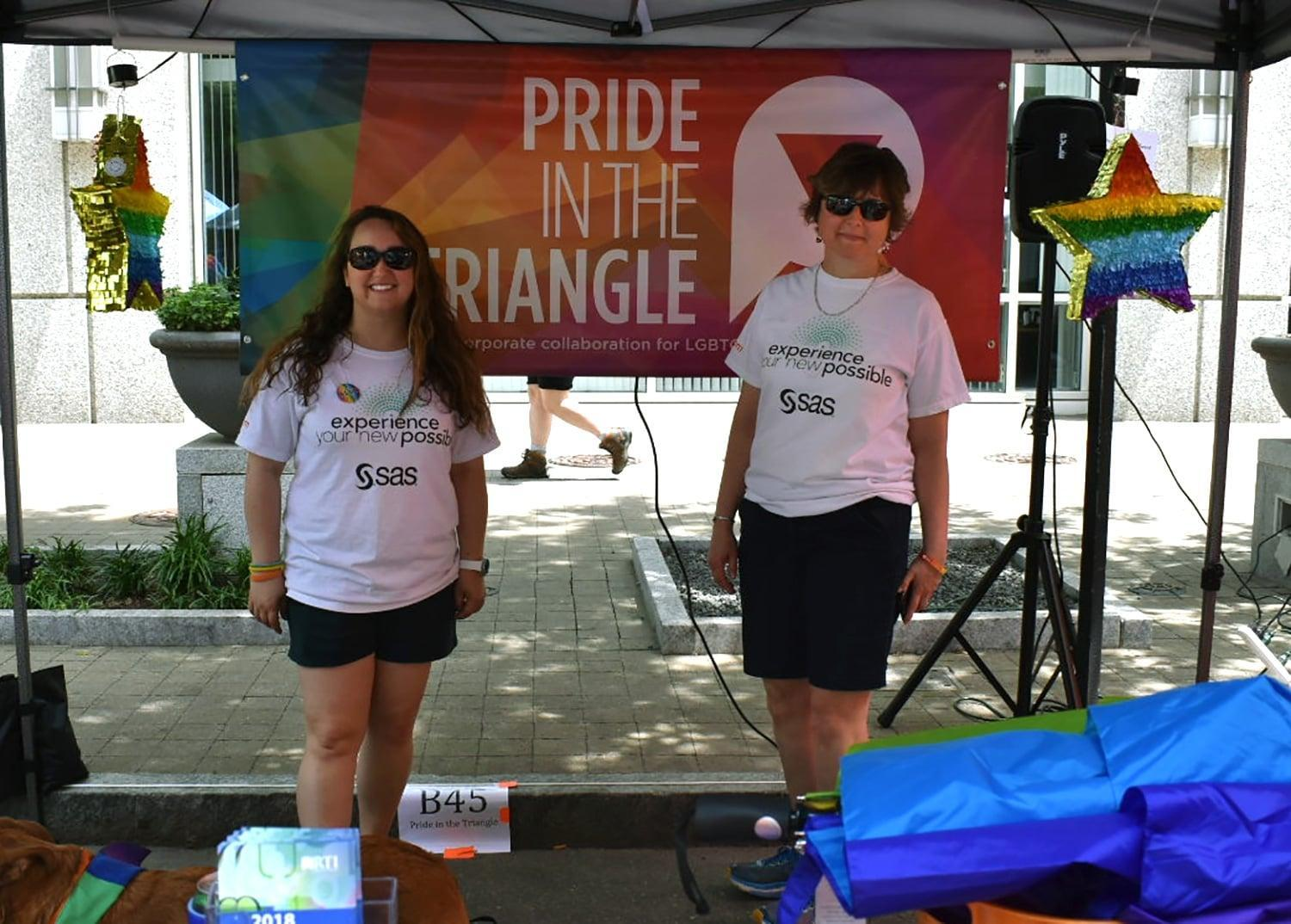 SAS employees at Pride Out in downtown Raleigh