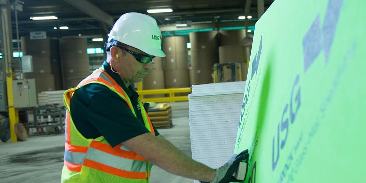 USG employee glass mat test
