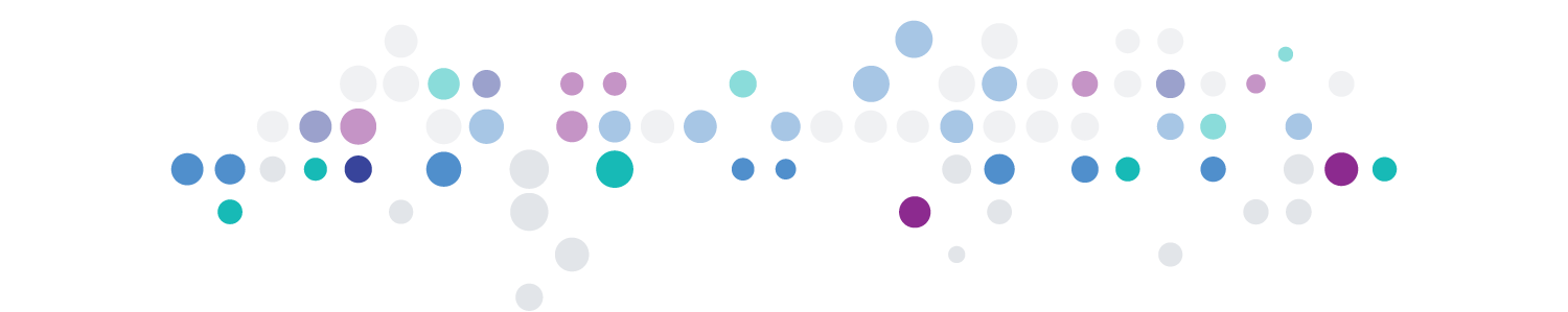 Transparent white, blue, violet, and aqua circle pattern